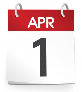 Vector of the first of April.