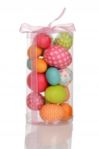 container of easter eggs